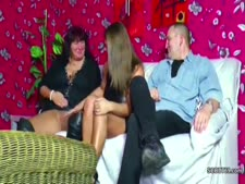 German mommy and parent entice step-daughter to plow in threesome